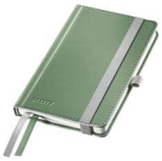 Zápisník Leitz Style A6 tvrdé desky čtverečkovaný celadonově zelený