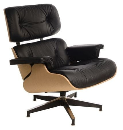 Mørtens Furniture Designové otočné křeslo Easy, černá/dub