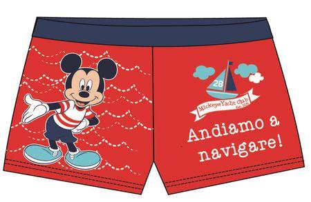 Disney by Arnetta chlapčenské plavky Mickey Mouse 86 červená