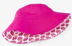 Hatley Dívčí oboustranný klobouček s kytičkami UV 50+ - růžový