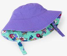 Hatley Dívčí oboustranný klobouček UV 50+ - fialový