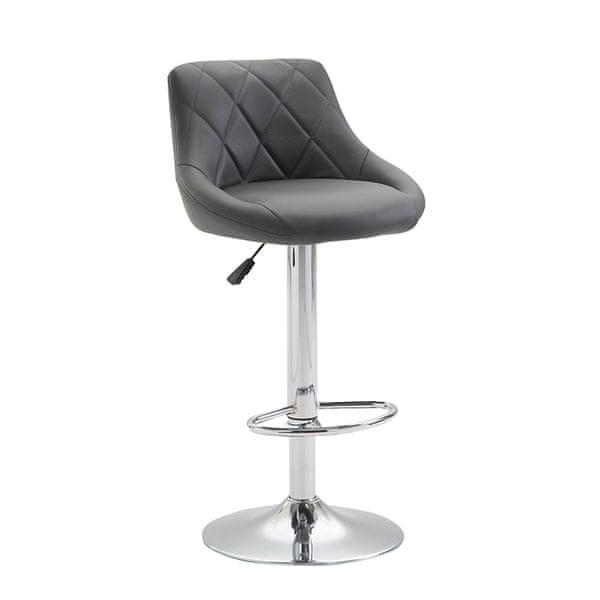 BHM Germany Barová židle Lizzy, šedá