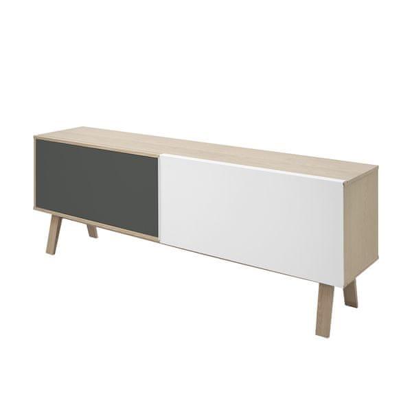Danish Style Odkládací skříň s posuvnými dveřmi Simo, 190 cm