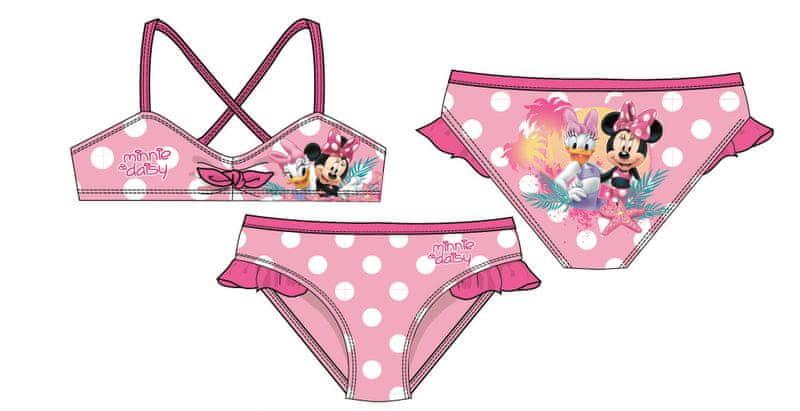 Disney by Arnetta dívčí plavky Minnie 122 růžová