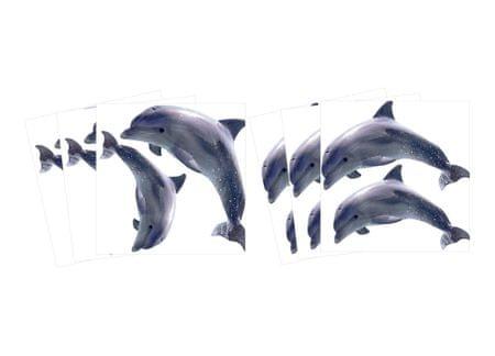 Dimex Malé nálepky vyrezané - Delfíny, 6 ks