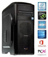 PCX namizni računalnik Extian 30174 i7-7700/16GB/SSD512GB+2TB/GTX1060/W10H