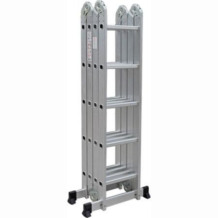 Tark štiridelna aluminijasta lestev DLM105, 5,7m