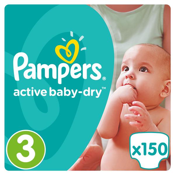 Pampers Active Baby 3 Midi - 150ks