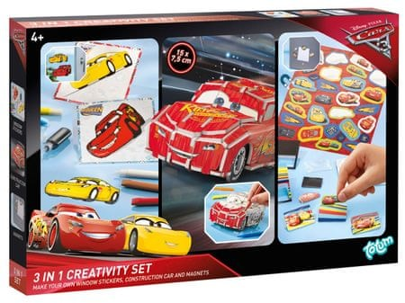 Disney Kreativní sada 3 v 1 Cars 3