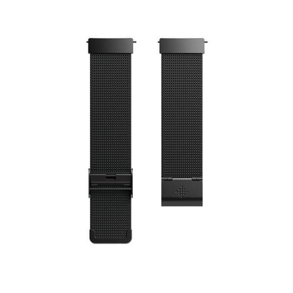 Fitbit Versa - kovový řemínek Mesh Black Stainless Steel