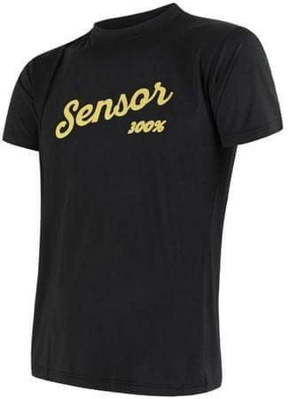 Sensor moška majica s kratkim rokavom Coolmax Fresh PT Logo, M, črna