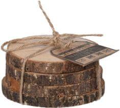 Orion Podtácka drevo 4 ks priemer 10 cm