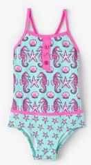 Hatley Dívčí plavky s mořskými koníky UV 50+ - tyrkysové