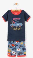 Hatley Chlapecké letní pyžamo s auty - modré