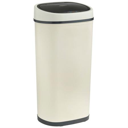 VonHaus koš za smeti z avtomatičnim odpiranjem in zapiranjem, 50 L, krem