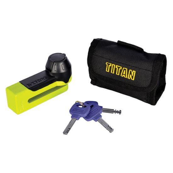Oxford titan ključavnica Disc-Lock & Pouch, rumena - Odprta embalaža