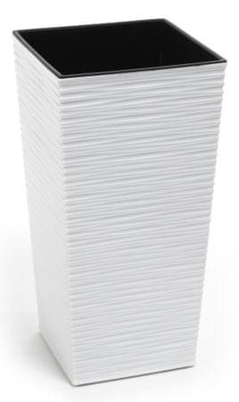 Lamela kvetináč FINEZIA DLUTO-vrúbok  300 x 300 biela