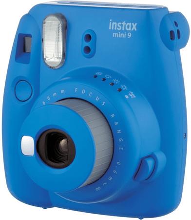 FujiFilm polaroidni analogni fotoaparat Instax Mini 9, temno moder