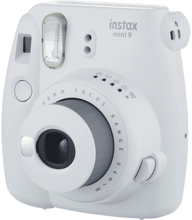 FujiFilm polaroidni analogni fotoaparat Instax Mini 9, bel