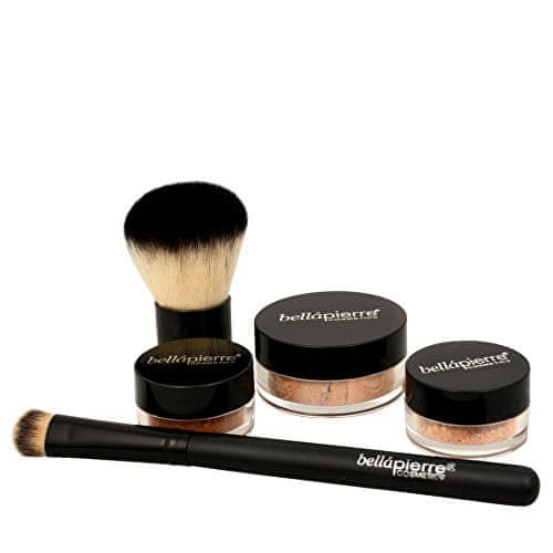 Bellapierre Kosmetická sada All Over Face (Contour and Highlighting Kit) (Odstín Deep)