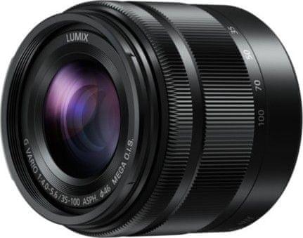 Panasonic 35-100 mm Lumix G VARIO F4–5,6 MEGA O.I.S. (H-FS35100E-K)