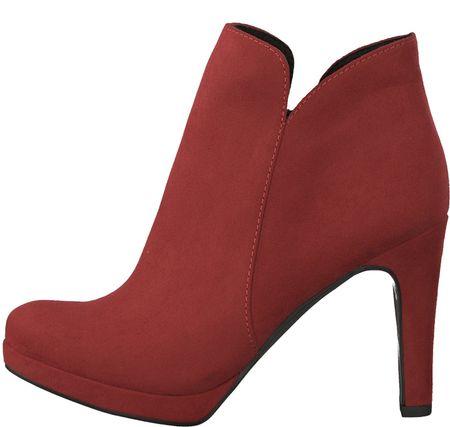 Tamaris dámská kotníčková obuv Lycoris 36 červená