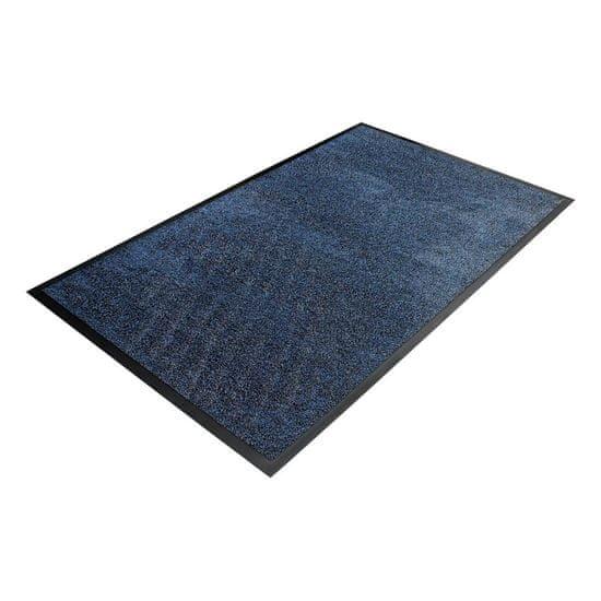 Modrá textilní čistící vnitřní vstupní rohož - 0,9 cm