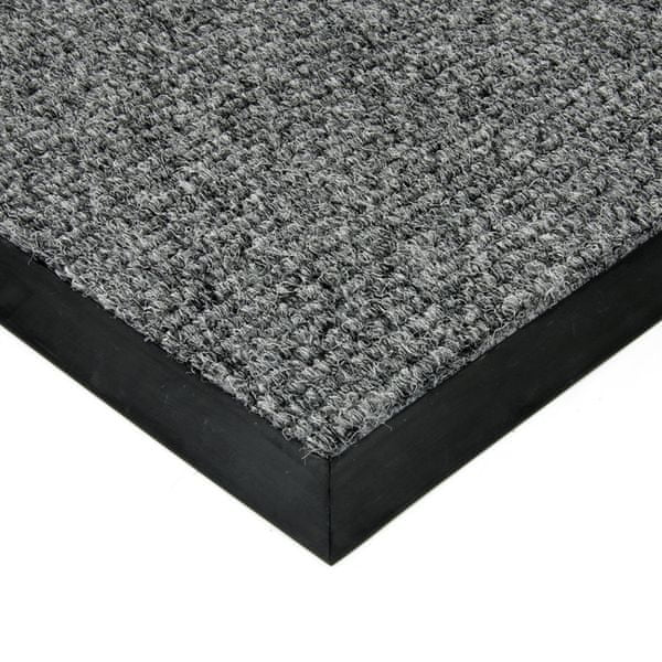FLOMAT Šedá textilní zátěžová čistící rohož Catrine - 300 x 500 x 1,35 cm