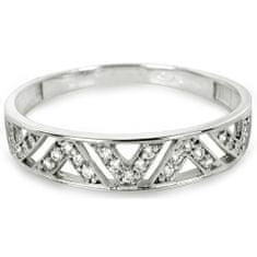 Brilio Prsten z bílého zlata s krystaly 229 001 00722 07 - 1,35 g zlato bílé 585/1000