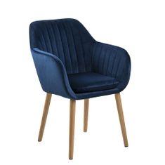 Design Scandinavia Konferenční židle s prošíváním Milla, modrá