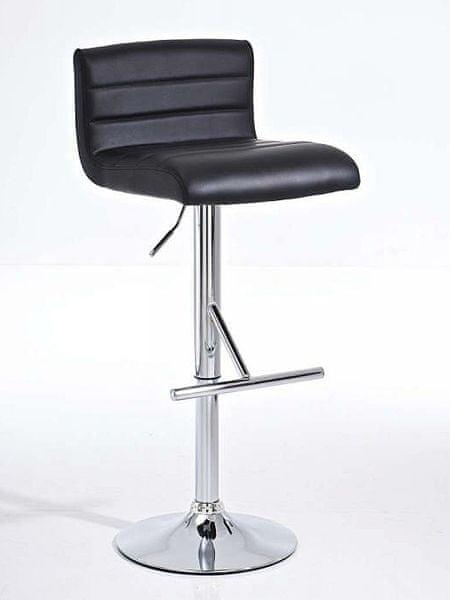 BHM Germany Barová židle Leonidas (SET 2 ks), černá