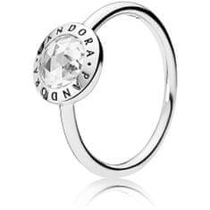 Pandora Stříbrný prsten s kamínkem 191029CZ stříbro 925/1000