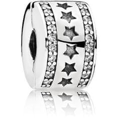 Pandora Stříbrný hvězdičkový klip 796381CZ stříbro 925/1000