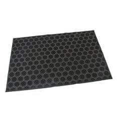 FLOMAT Gumová vstupní kartáčová rohož Circles - 60 x 40 x 0,7 cm