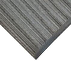 Šedá gumová protiskluzová protiúnavová průmyslová rohož - 0,9 cm