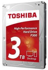 """TOSHIBA P300 tvrdi disk, 3 TB, 8,89 cm (3,5""""), SATA3, 7200 (HDWD130UZSVA)"""