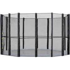 Too Much zaščitna mreža za trampolin s 6 palicami, 400 cm, brez konstrukcije