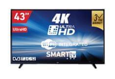 VOX electronics 4K LED TV prijemnika 43DSW293V (Smart TV, Wi-Fi)