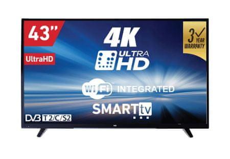 VOX electronics 4K LED TV sprejemnik 43DSW293V (Smart TV, Wi-Fi)
