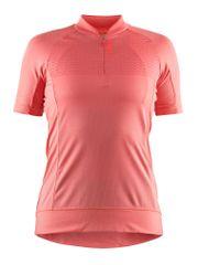 Craft ženska kolesarska majica Rise Jersey, roza, M