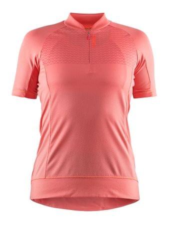 Craft ženska kolesarska majica Rise Jersey, roza, L