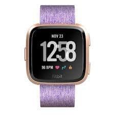 Fitbit pametni sat Versa (NFC) - Lavender Woven, rozi