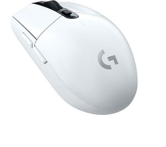 Logitech G305 Lightspeed brezžična gaming miška, bela