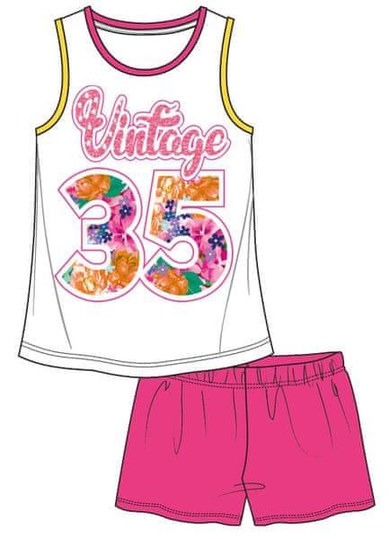 Mix 'n Match dívčí letní set 122 bílá/růžová