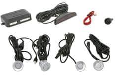 M-Tech Parkovací asistent s digitálním displejem, zadní, barva stříbrná, průměr senzorů 21,5 mm