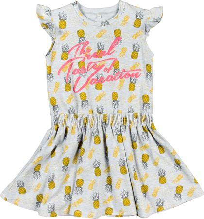 MMDadak dievčenské šaty Ananas 104 sivá