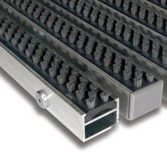 FLOMAT Šedá hliníková kartáčová venkovní vstupní rohož Alu Super, FLOMAT - 2,7 cm