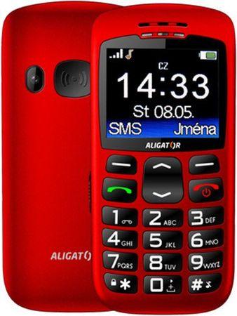 Aligator A670 Senior, červený