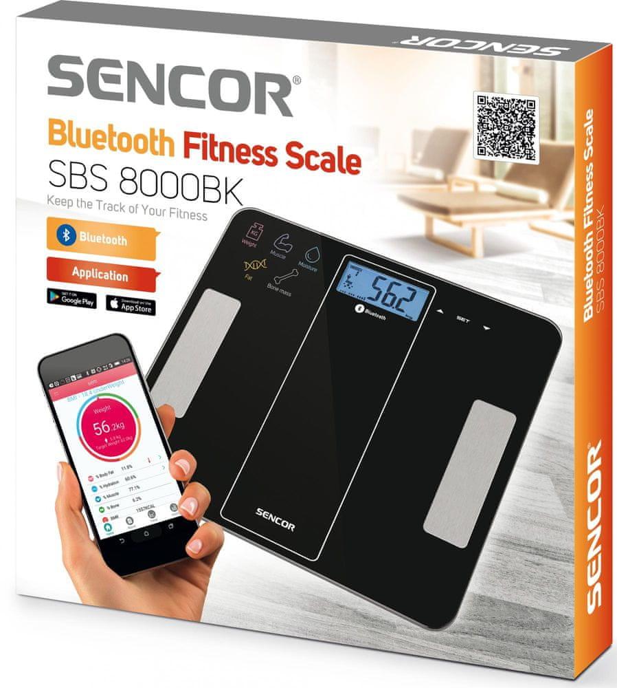 SENCOR osobní váha SBS 8000BK černá - rozbaleno