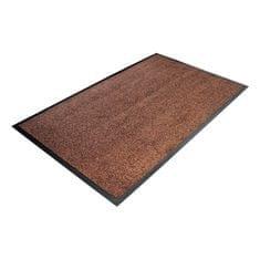 Hnědá textilní čistící vnitřní vstupní rohož - 0,8 cm